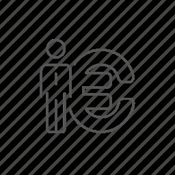 businessman, currency, economy, euro, money, profit, savings icon