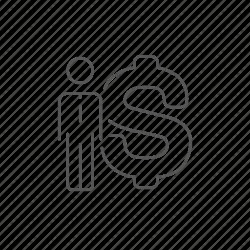 businessman, currency, economy, money, profit, savings, usd icon
