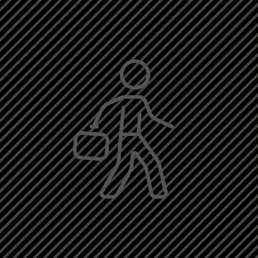 briefcase, businessman, career, job, portfolio, suitcase, worker icon