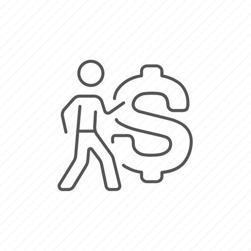 businessman, cash, currency, dollar, money, profit, usd icon