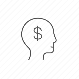 analysis, business, cash, dollar, head, money, success icon