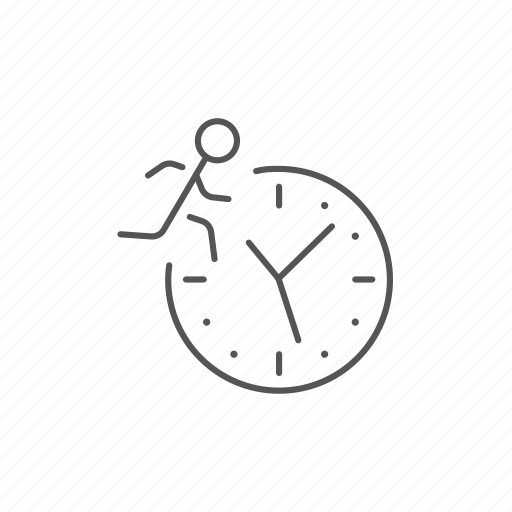 business, busy, management, movement, running, time, timer icon
