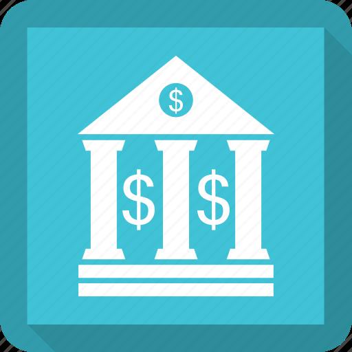 architecture, bank, building, capitol icon
