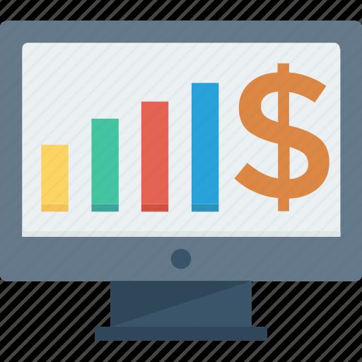 analysis, analytics, chart, diagram, graphs, sale charts, stock market icon icon