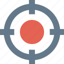 crosshair, pin pointer, shoot, target icon icon