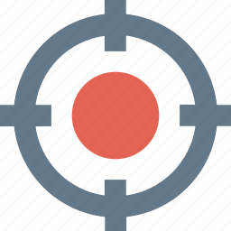 crosshair, pin pointer, shoot, target icon icon