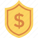 cash, protection, safety, secure, security, shield icon icon