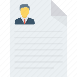 contract, cv, document, resume icon icon