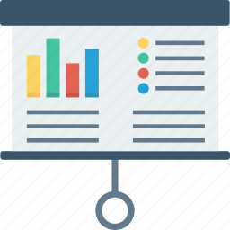 analytics, blackboard, conference, powerpoint, presentation, statistics, training icon icon