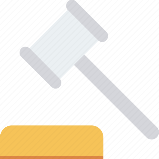 hammer, law, legal insurance icon icon