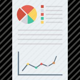 analytics, docs, documents, graph, pdf, report, statistics icon icon