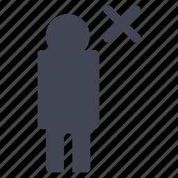business, cancel, close, delete, employee, remove icon