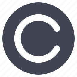 business, c, circle, copy, right icon