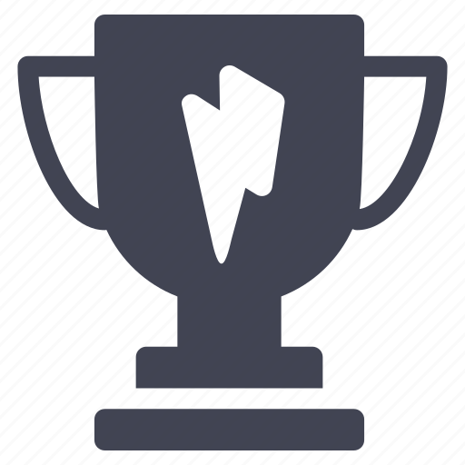 award, business, cup, lightening, trophy icon