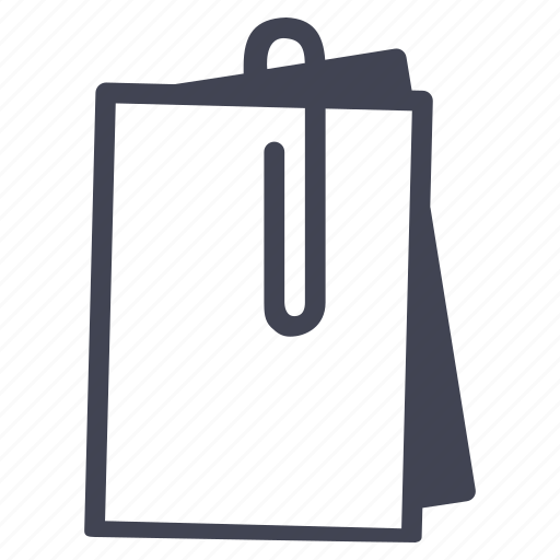 business, clip, document, documents, paper, paperclip, papers icon