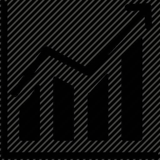 ascending, benefit, finance, profit, progress icon