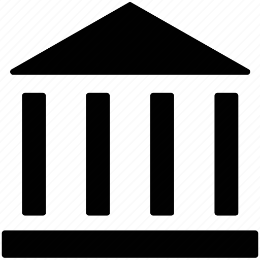 bank, building, office, real estate, structure icon