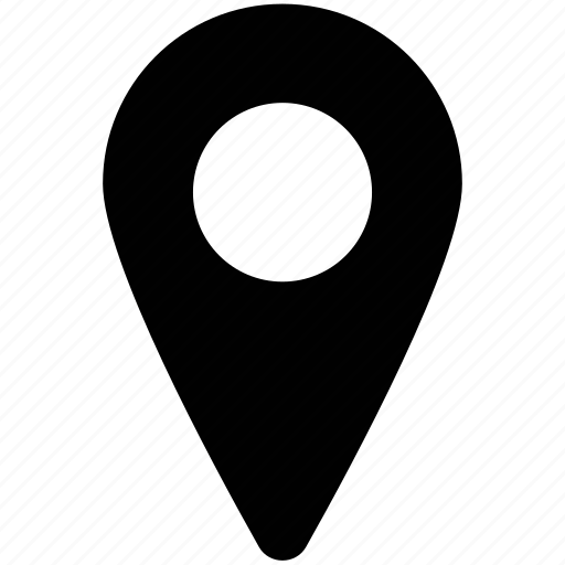 location pin, locator, map marker, map pin, navigational pin icon