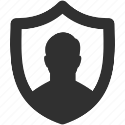 personal security, privacy, security shield, shield, user icon