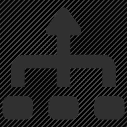 flowchart, layout, scheme, structure icon