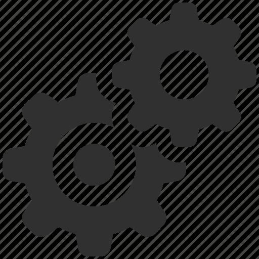 cogs, gears, gearwheels, process, settings icon
