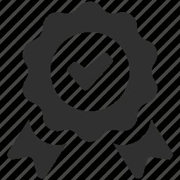 approved, check, premium, quality, quality badge, ribbon, ribbon badge icon