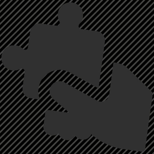 business solution, problem solving, puzzle, puzzle piece, solution, solve problem, team building icon