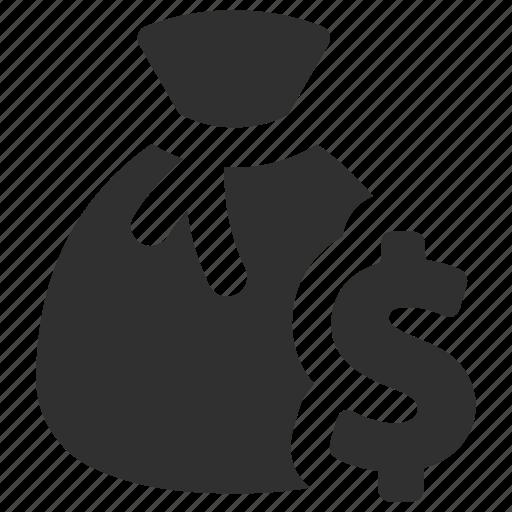 coin bag, coins, finance, funds, money, money bag, money sack icon