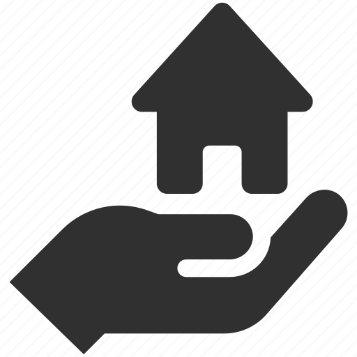holding house, home, home insurance, house, house insurance icon