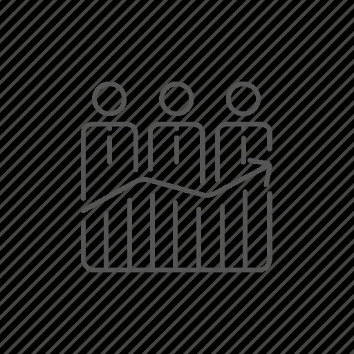 arrow, businessmen, development, graph, growing, profit, progress icon