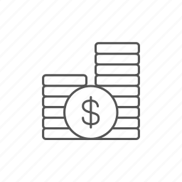 coins, currency, dollar, investment, money, profit, treasure icon