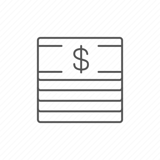 bills, cash, currency, dollar, money, stack, usd icon