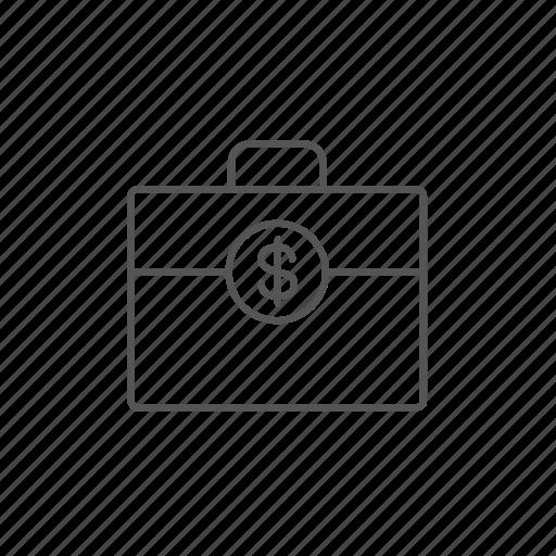 cash, dollar, financial, money, profit, suitcase, usd icon