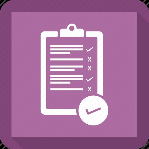 check, checklist, list, notepad, paper icon