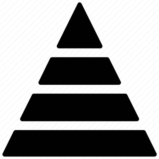 four level stack, layered pyramid, pyramid, pyramidal chart, stack icon