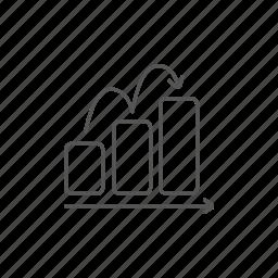 bar, chart, growth, increase, info, progress, upward icon