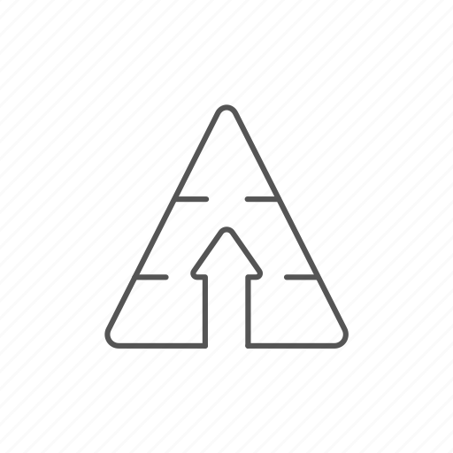 arrow, goal, growth, moving, progress, pyramid, top icon