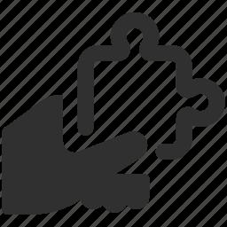 business solution, puzzle, puzzle piece, solution icon