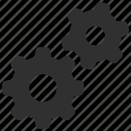cogs, gear wheel, gears, production, settings icon