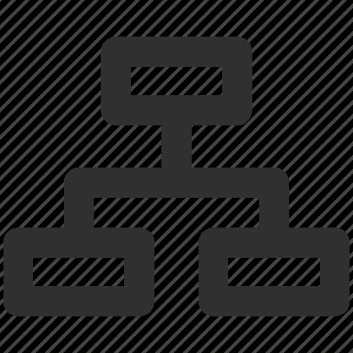 business hierarchy, diagram, graph, hierarchy, workflow icon