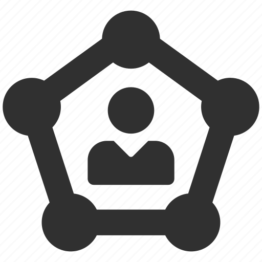 circles, connection, links, social, user, web icon