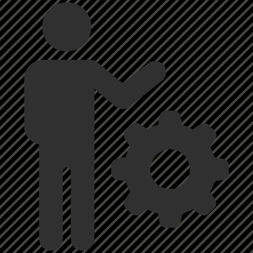 cog, gear, management, manager, managing, productivity, progress icon