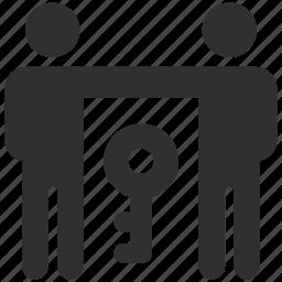 access, business partners, business partnership, give access, grant access, partnership icon