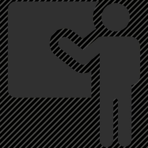 demo, presentation, presentation board, presenting, public presentation icon