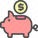 business, currency, finance, money, piggy bank icon
