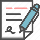 account, document, pen, signup, user icon