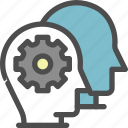 account, controls, gear, interface, setting, user icon