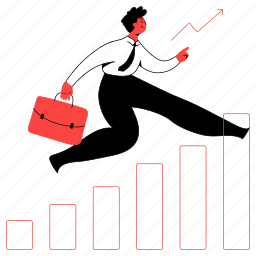 business, increase, arrow, upwards, up, profit, graph, chart, promotion, salary