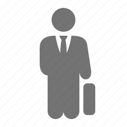 briefcase, businessman, holding, lawyer, suit, work icon