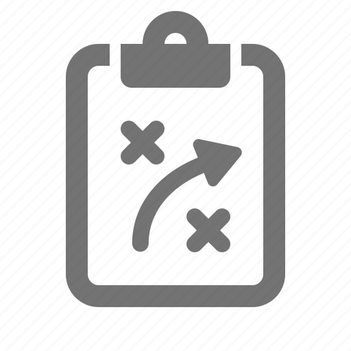 clipboard, obstacle, plan, problem, solution, strategy, tactics icon
